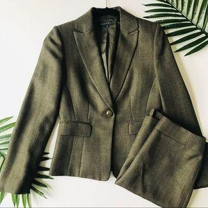 Antonio Melani Tweed Olive Green Blazer